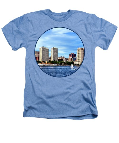 Philadelphia Pa Skyline Heathers T-Shirt by Susan Savad