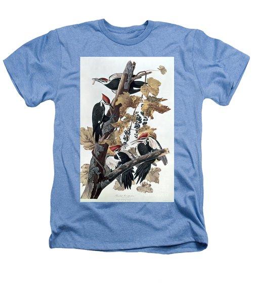 Pileated Woodpeckers Heathers T-Shirt by John James Audubon