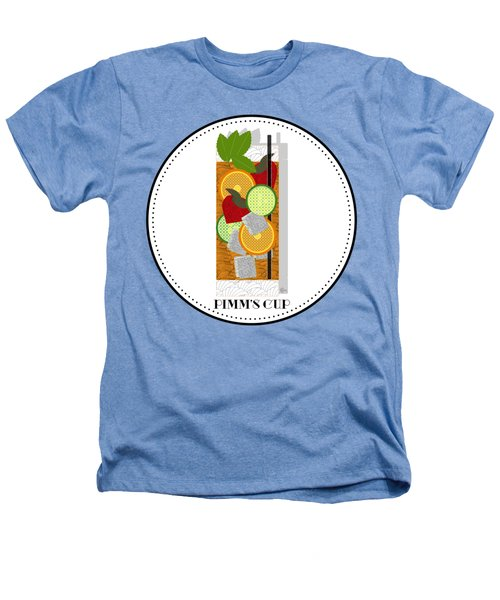 Pimm's Cup Cocktail In Art Deco  Heathers T-Shirt by Cecely Bloom