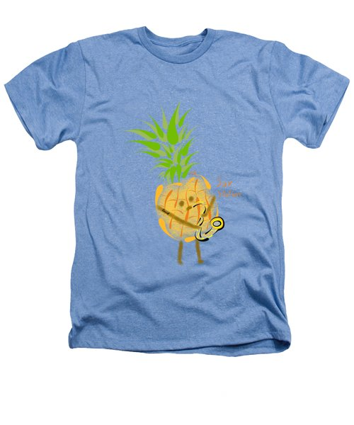 Pineapple Playing Saxophone Heathers T-Shirt by Neal Battaglia