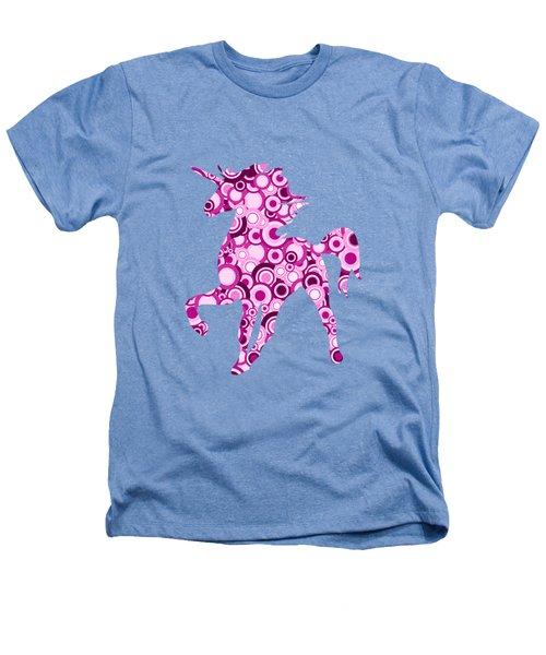 Pink Unicorn - Animal Art Heathers T-Shirt by Anastasiya Malakhova