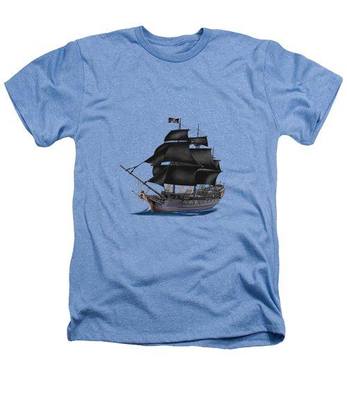 Pirate Ship At Sunset Heathers T-Shirt by Glenn Holbrook