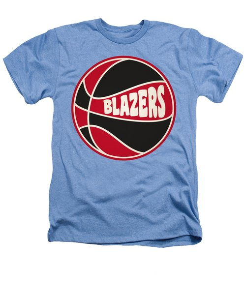 Portland Trail Blazers Retro Shirt Heathers T-Shirt by Joe Hamilton