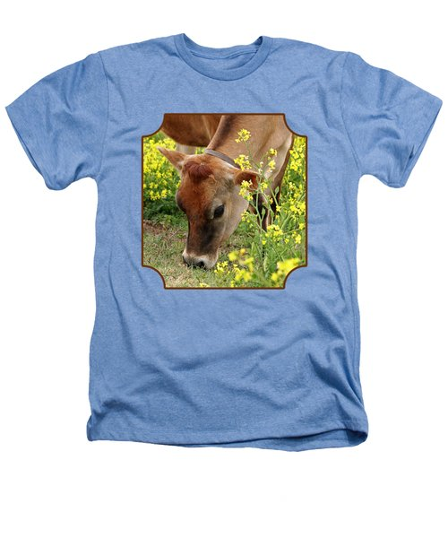 Pretty Jersey Cow Square Heathers T-Shirt by Gill Billington