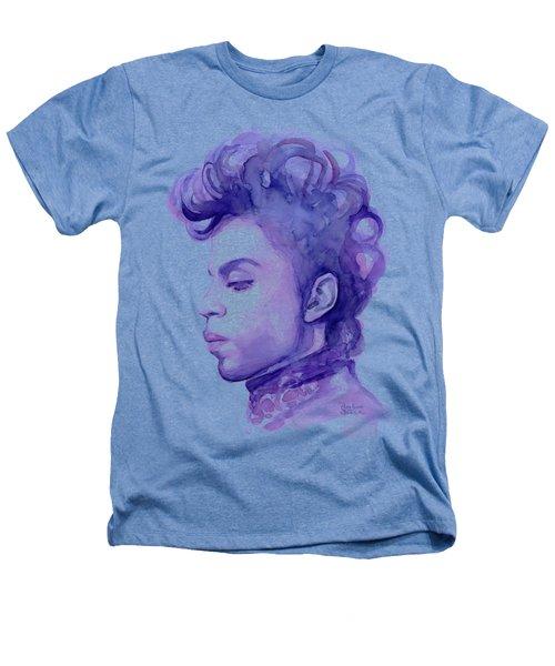 Prince Musician Watercolor Portrait Heathers T-Shirt by Olga Shvartsur