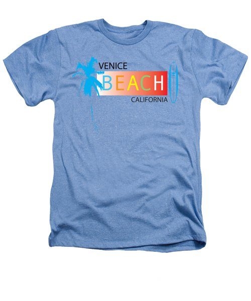 Venice Beach California T-shirts And More Heathers T-Shirt by K D Graves