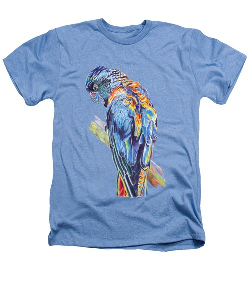 Psychedelic Parrot Heathers T-Shirt by Lorraine Kelly