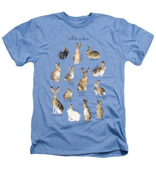 Rabbits And Hares Heathers T-Shirt by Amy Hamilton