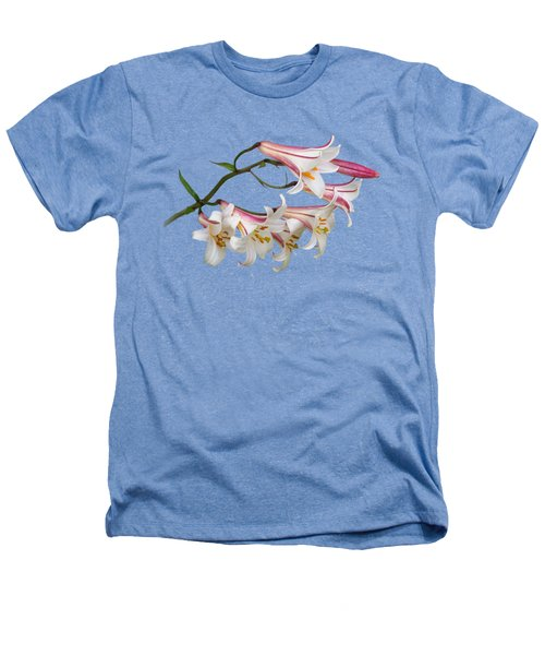 Radiant Lilies Heathers T-Shirt by Gill Billington
