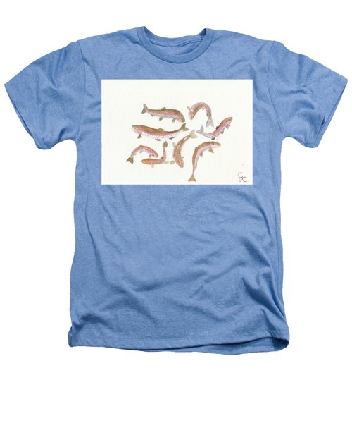 Rainbow Trout Heathers T-Shirt by Gareth Coombs