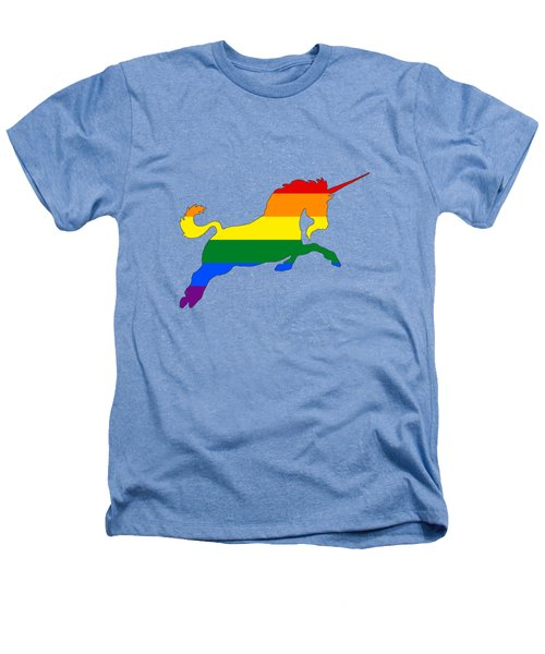 Rainbow Unicorn Heathers T-Shirt by Mordax Furittus