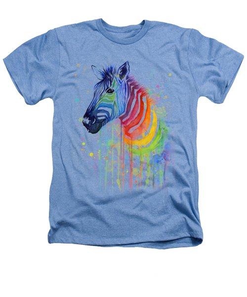 Rainbow Zebra - Ode To Fruit Stripes Heathers T-Shirt by Olga Shvartsur