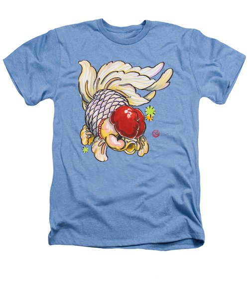 Red Cap Mixed Ranchu Heathers T-Shirt by Shih Chang Yang
