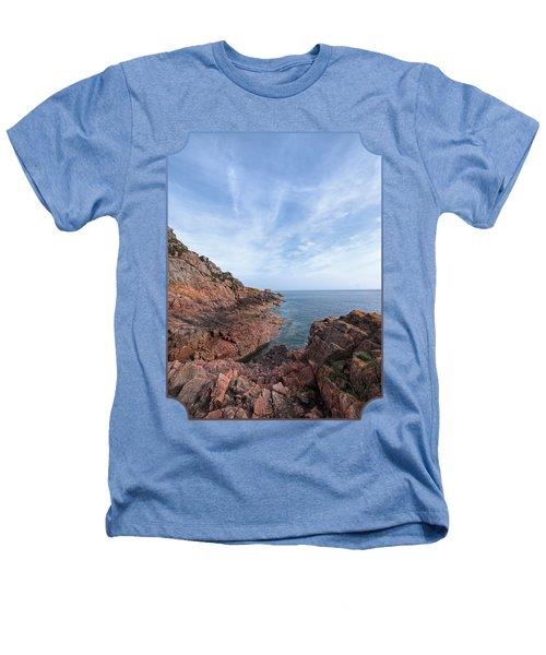 Rocky Ocean Inlet - Jersey Heathers T-Shirt by Gill Billington