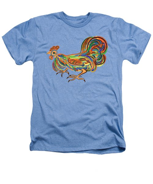 Rooster- Symbol Of Chinese New Year Heathers T-Shirt by Michal Boubin