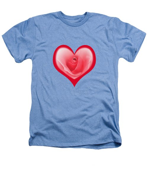Rose Heart T-shirt And Print By Kaye Menner Heathers T-Shirt by Kaye Menner