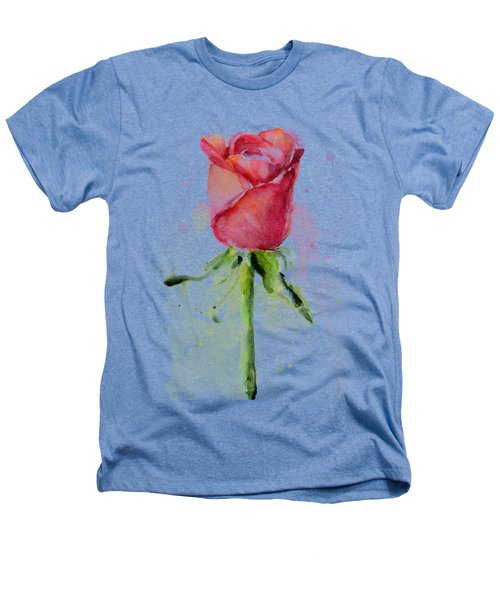 Rose Watercolor Heathers T-Shirt by Olga Shvartsur