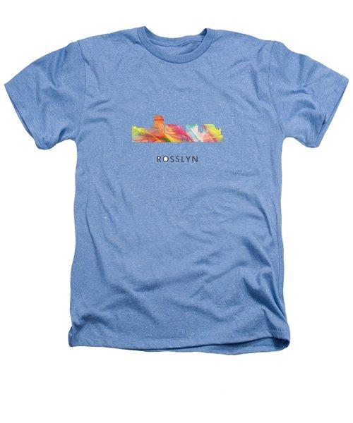 Rosslyn Virginia Skyline Heathers T-Shirt by Marlene Watson