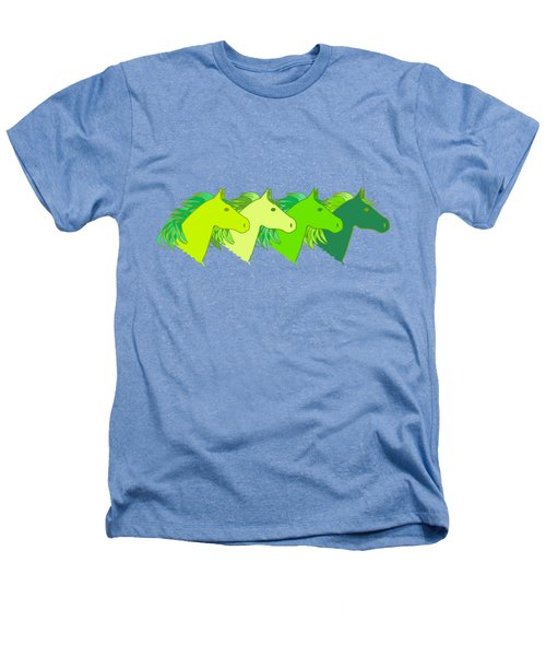 Running Horse Lime Heathers T-Shirt by Alexsan