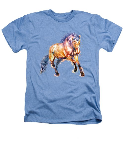 Running Horse Heathers T-Shirt by Marian Voicu