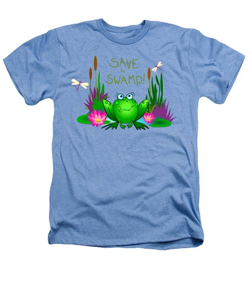 Save The Swamp Twitchy The Frog Heathers T-Shirt by M Sylvia Chaume