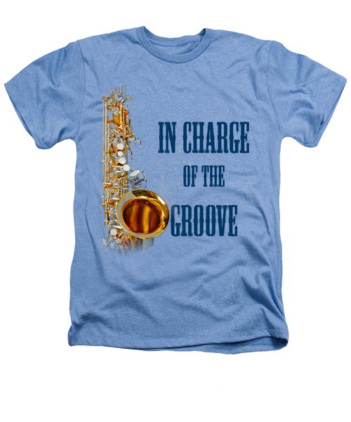 Saxophones In Charge Of The Groove 5532.02 Heathers T-Shirt by M K  Miller