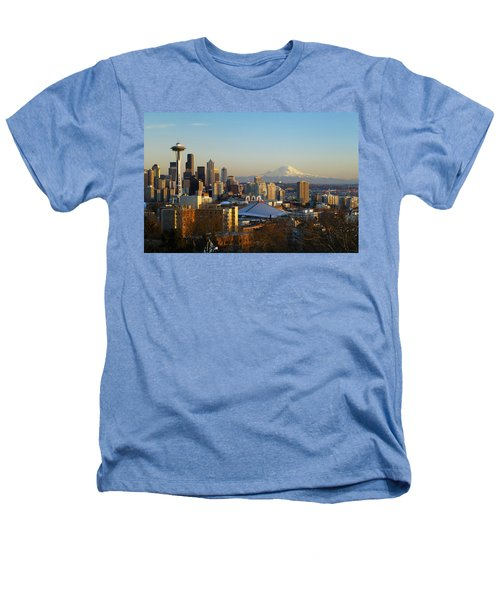 Seattle Cityscape Heathers T-Shirt by Greg Vaughn - Printscapes