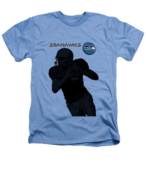 Seattle Seahawks Football Heathers T-Shirt by David Dehner