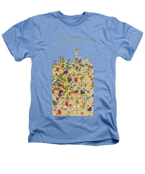 Seattle Skyline.2 Heathers T-Shirt by Alberto RuiZ