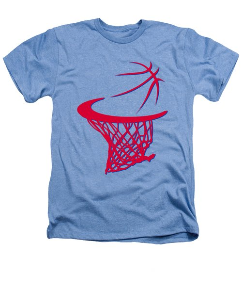Sixers Basketball Hoop Heathers T-Shirt by Joe Hamilton