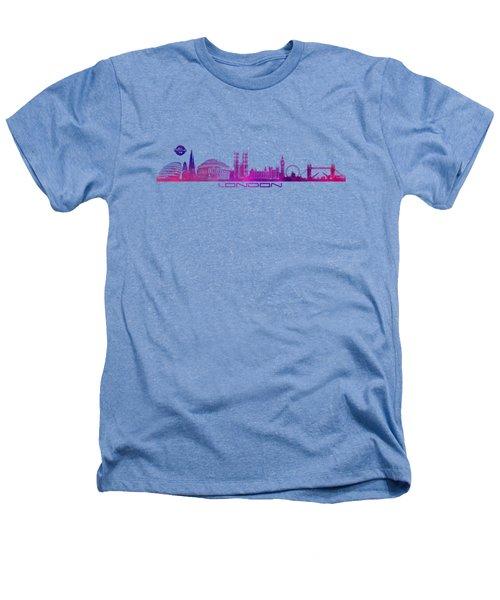 skyline city London purple Heathers T-Shirt by Justyna JBJart