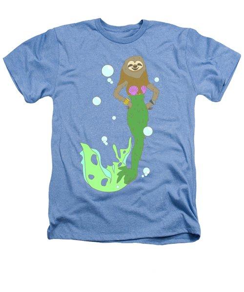 Sloth Mermaid Heathers T-Shirt by Notsniw Art