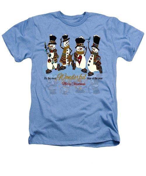 Snow Play Heathers T-Shirt by Tami Dalton