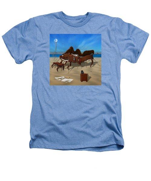 Softe Grand Piano Se Sq Heathers T-Shirt by Mike McGlothlen