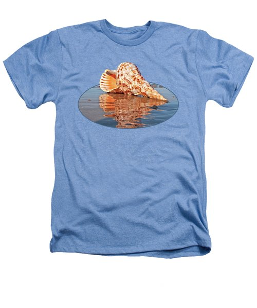 Sounds Of The Ocean - Trumpet Triton Seashell Heathers T-Shirt by Gill Billington