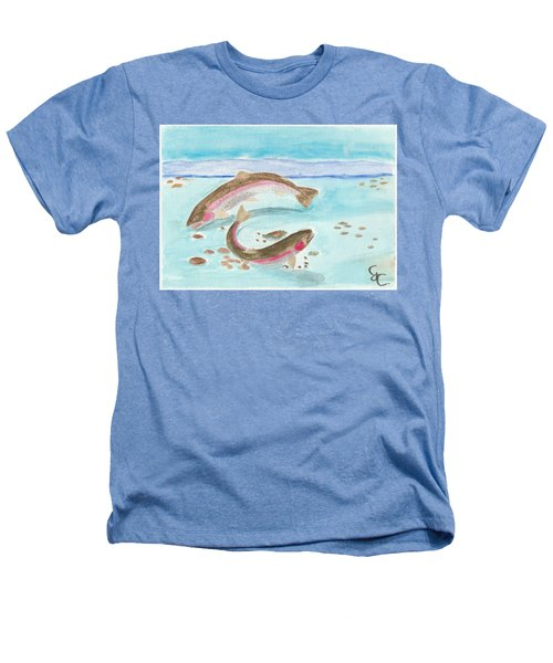 Spawning Rainbows Heathers T-Shirt by Gareth Coombs