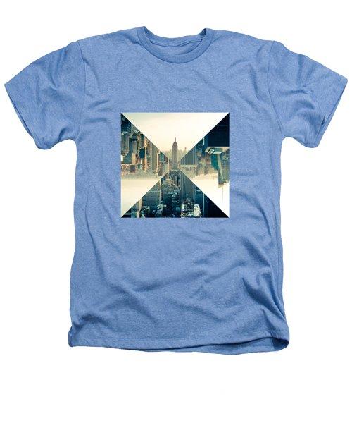 Split Skyline Ny Heathers T-Shirt by Jamie Kingswood