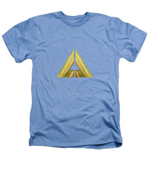 Split Triangle Green Heathers T-Shirt by YoPedro