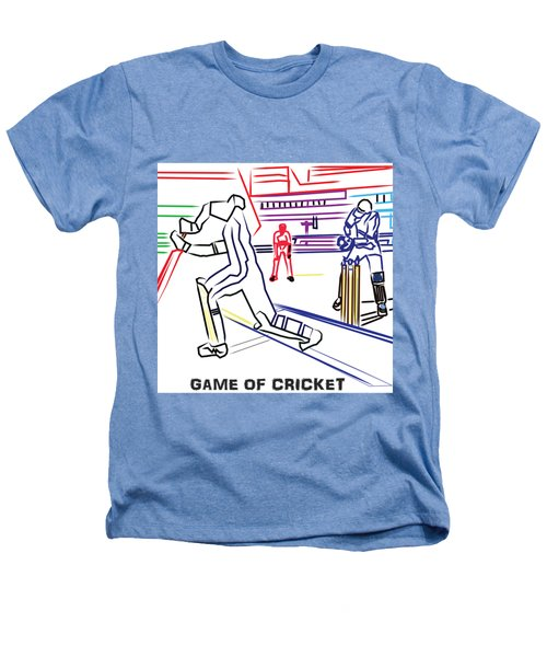 Sports Fan Cricket Played India England Pakistan Srilanka Southafrica Heathers T-Shirt by Navin Joshi