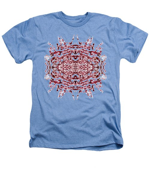 Strawberry Red Abstract Heathers T-Shirt by Frank Tschakert