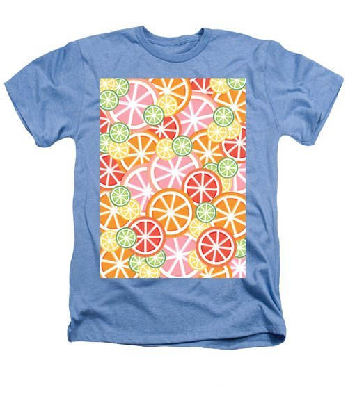 Sweet And Sour Citrus Print Heathers T-Shirt by Lauren Amelia Hughes