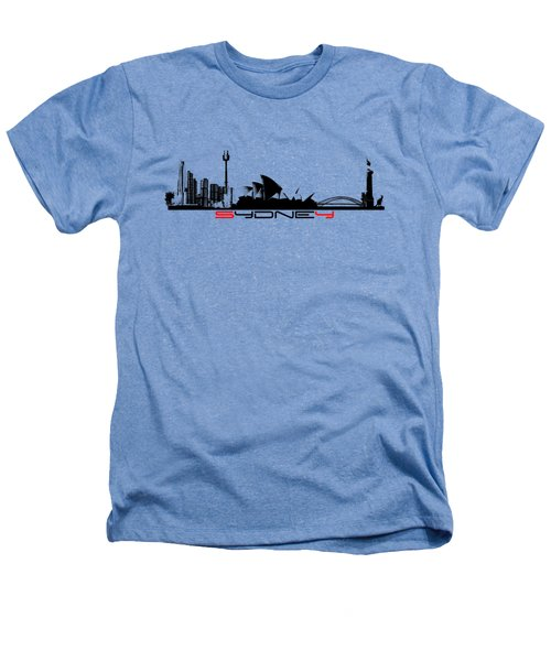 Sydney Skyline Black Heathers T-Shirt by Justyna JBJart