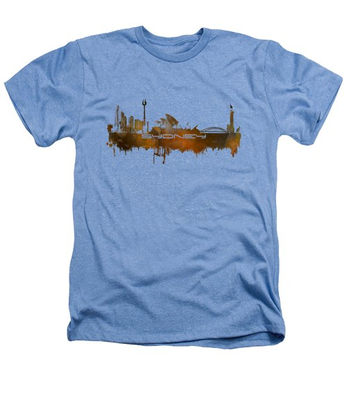 Sydney Skyline City Brown Heathers T-Shirt by Justyna JBJart