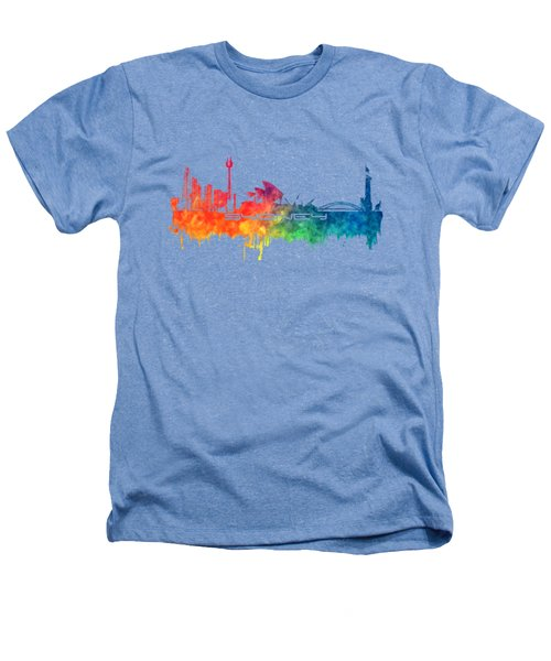 Sydney Skyline City Color Heathers T-Shirt by Justyna JBJart