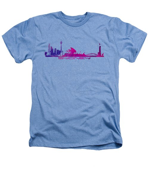 Sydney Skyline Purple Heathers T-Shirt by Justyna JBJart