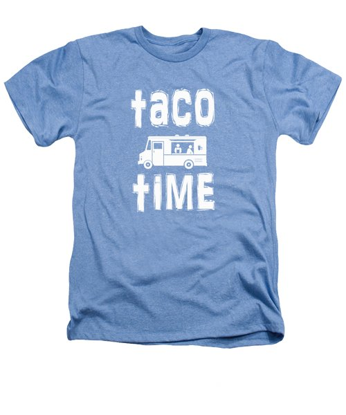 Taco Time Food Truck Tee Heathers T-Shirt by Edward Fielding