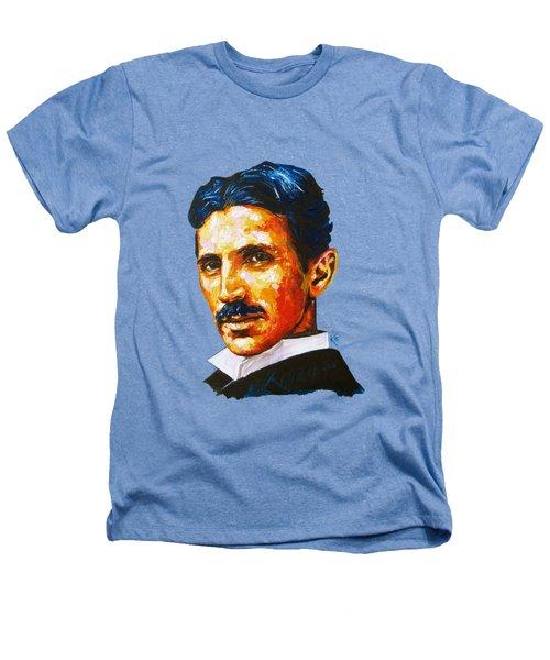 Tesla - Pure Genius Heathers T-Shirt by Konni Jensen