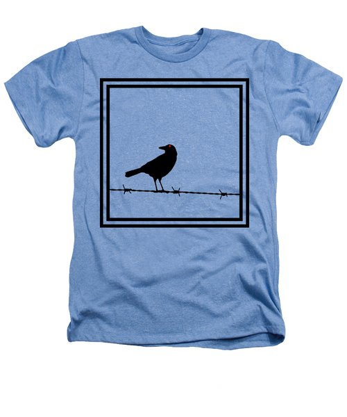 The Black Crow Knows T-shirt Heathers T-Shirt by Edward Fielding