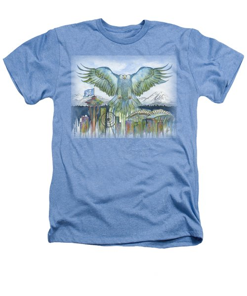 The Blue And Green Heathers T-Shirt by Julie Senf