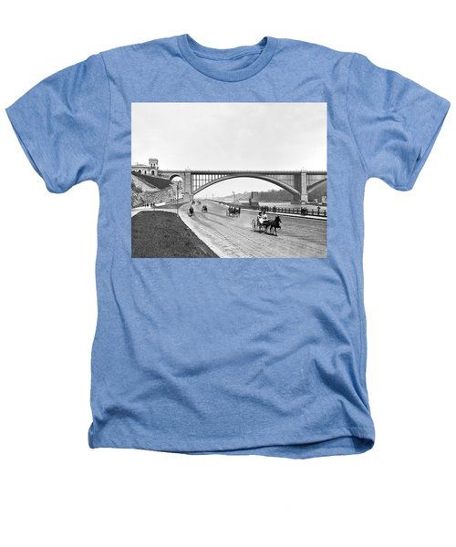 The Harlem River Speedway Heathers T-Shirt by William Henry jackson